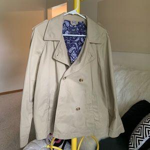 Gap short trench jacket